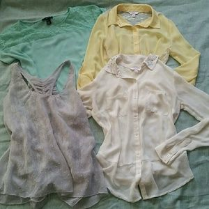 Spring / easter tops bundle size Small